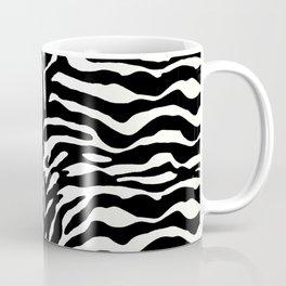 Wild Animal Print, Zebra in Black and White Coffee Mug
