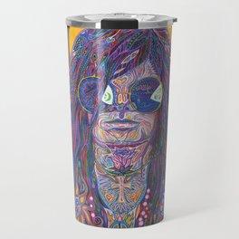 Psychedelic Sun Goddess Portrait Travel Mug