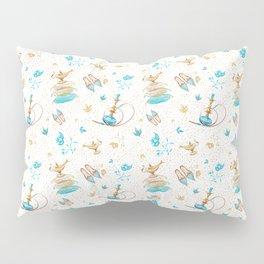 Princess Jasmine Icons on White Pillow Sham