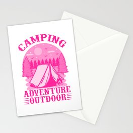 Camping Adventure Outdoor mag Stationery Cards