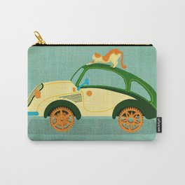 Retro Car B01 & Stretching Cat  Carry-All Pouch