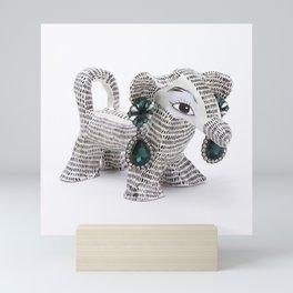 PINK DOG WITH EARRINGS Mini Art Print