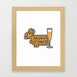 Mimosa Season Framed Art Print