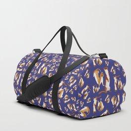 Funny Weasel ( Mustela nivalis ) Duffle Bag