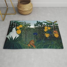 Henri Rousseau - The Repast of the Lion Rug