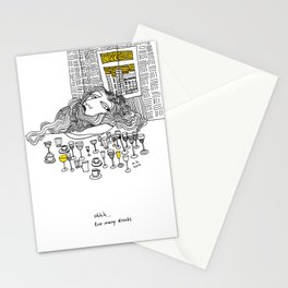 Ohhh... too much drinks Stationery Cards