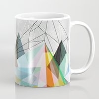 lines Mugs featuring Colorflash 3 by Mareike Böhmer