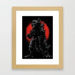 Hail Zilla Framed Art Print
