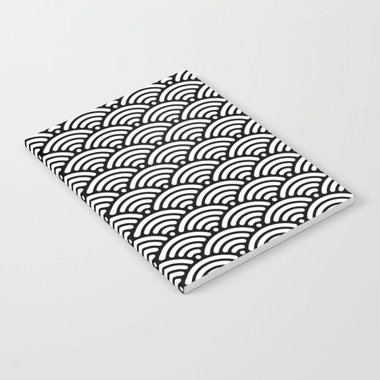 Black White Waves Notebook
