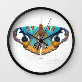 calm: buckeye butterfly Wall Clock
