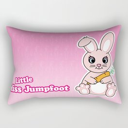 Little Miss Jumpfoot Rectangular Pillow