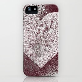 Safe From Harm II | graffiti spray paint heart painting iPhone Case