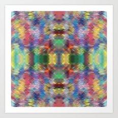 Acid Rain Detail Pixel Art Print