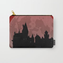 Castle - Red, Large Moon Carry-All Pouch