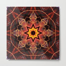 Kaleidoscope fantasy on lights in the shape of a bison! Metal Print