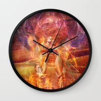 phoenix Wall Clocks featuring Phoenix by Aimee Stewart