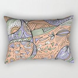 Peach Day Rectangular Pillow