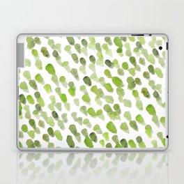 Imperfect brush strokes - olive green Laptop & iPad Skin