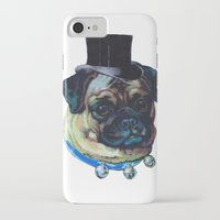 pugs iPhone & iPod Cases featuring Sir Pugs by Bonnie J. Breedlove