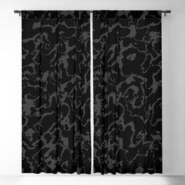 Wild Marble - Abstract dark Blackout Curtain
