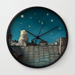 Star Cat Wall Clock