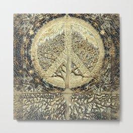Tree of Life Peace on Earth Metal Print