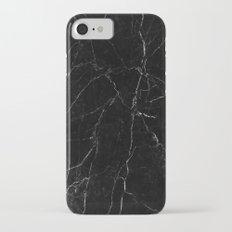 Black Marble Print iPhone 7 Slim Case