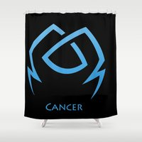 cancer Shower Curtains featuring Cancer by Groovyal