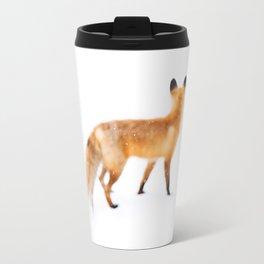 Fox in Snow Travel Mug