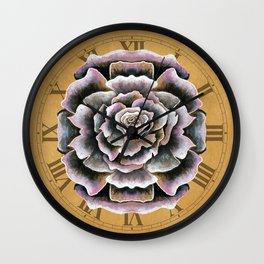 Sweet Pink Rose Wall Clock