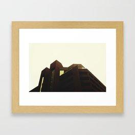 FUTURISTIC BUILDING Framed Art Print