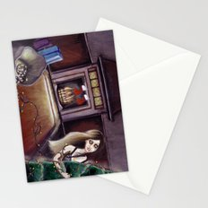 BLACK XMAS: Brighten up the Christmas lights Stationery Cards