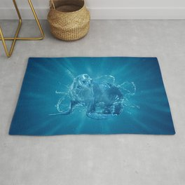 Abstract water South American sea lion Rug