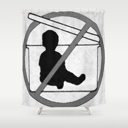 Don't! Shower Curtain