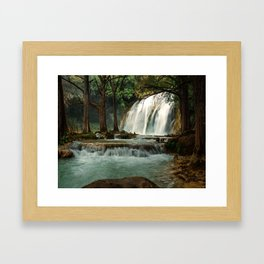 Silky Waterfall Framed Art Print