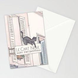Black Cat Paris Le Chat Noir Montmartre Stationery Cards