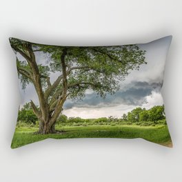 Big Tree - Tall Cottonwood and Passing Storm in Texas Rectangular Pillow