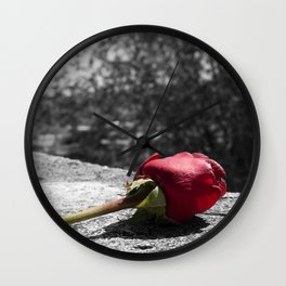 A rose in Rome, Italy Wall Clock