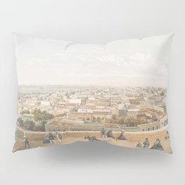 Vintage Pictorial Map of San Juan PR (1860) Pillow Sham