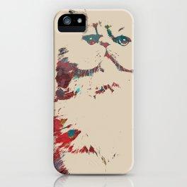Art Cat Print iPhone Case