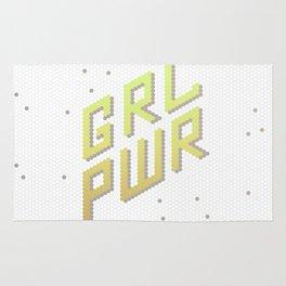 GRL PWR: Girl Power! Feminist Female Future Rug