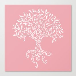 Tree of Life Pink Canvas Print
