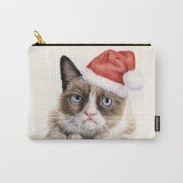 Grumpy Santa Cat Carry-All Pouch