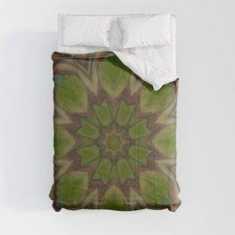 Metamorphosis // Beautiful Healing Energy Mandala Visionary Art Sacred Geometry Green Circle Comforters