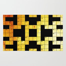 crossword puzzle Rug