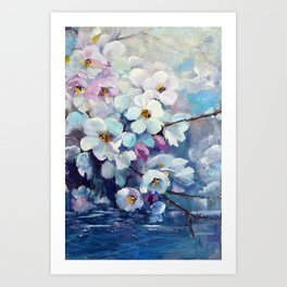 Apple tree above water Art Print