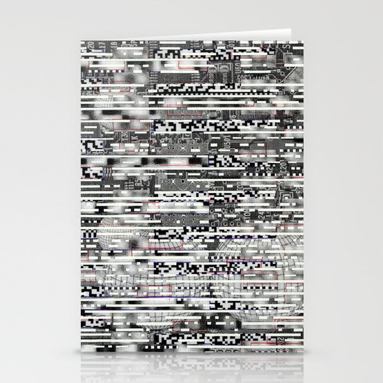 Removing Filters (P/D3 Glitch Collage Studies) Stationery Cards