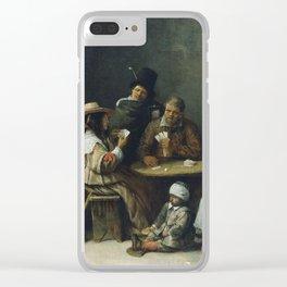 Hieronymus Bosch - Josse Van Craesbeeck - Card Playersabout 1645 Clear iPhone Case