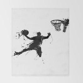 Slam dunk Basketballer Throw Blanket