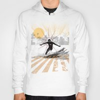 surfer Hoodies featuring surfer by michael cheung